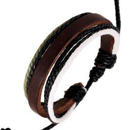 5d6dc298b07f Los hombres pulseras de moda bar de cuero cuerda de la armadura de la  cadena de cuero de vaca pulseras para mujer Personalidad de la moda coreana  mano traer ...