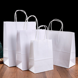 $enCountryForm.capitalKeyWord NZ - Wholesale Kraft Paper Bags Clothing Carrier Pack Bag Weeding Party Gift Packing Bags with handles kraft paper shopping bag