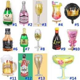 $enCountryForm.capitalKeyWord Australia - 14 Styles Champagne Bottle Aluminum Foil Balloon Cartoon Birthday Party Wine Glass Christmas Decoration Balloons Wedding Supplies HH9-2333