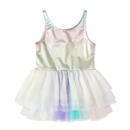 $enCountryForm.capitalKeyWord NZ - Girls Rainbow Lace pinafore dress Toddlers colorful sleeveless low back sundress cute 1-3T tutu skirt