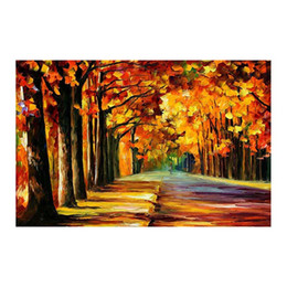 """$enCountryForm.capitalKeyWord UK - 24""""x20"""" Forest path hand-painted canvas oil painting living room sofa background wall decoration painting European painting"""