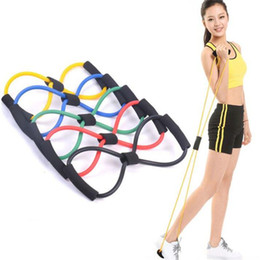 $enCountryForm.capitalKeyWord NZ - Light Figure 8 Ultra Toner Resistance Band Exercise Cords for Yoga Workout Body Building Home Gym with Heavy Duty RTB001