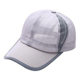 984596f0c6c Summer Breathable Mesh Outdoor Baseball Cap Men Women Casual Sunscreen  Baseball Cap Adult Mesh Hat Quick-Dry Collapsible Sun Hat