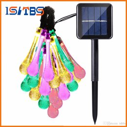 moon string lights NZ - 21ft 30 Led Strip Solar Water Drop Outdoor Fairy Lights Lamp Garden String Lighting Halloween Christmas Decoration Led