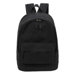 Wholesale Canvas Back Packs Australia - Wholetide- Korea Style Fashion Backpack For Men And Women Preppy Style Soft Back Pack Unisex School Bags Big Capacity Canvas Bag
