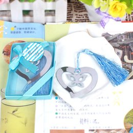 $enCountryForm.capitalKeyWord Australia - Free Shipping 100pieces lot Bookmark Heart Butterfly Bookmark Wedding Small Gifts For Guests