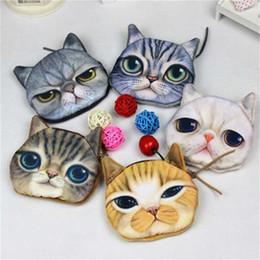 87d51aa44 3D Monedero Lindo Bolso Cartera Animal Cremallera Mini Gato Monederos  Monedero Perro Felpa # 43537
