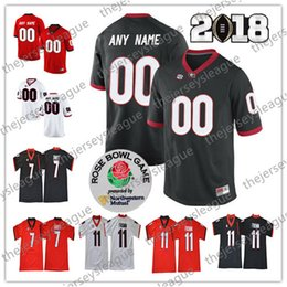 a61cf3e88 Georgia Bulldogs Custom Any Name Any Number White Black Red Stitched #11  Jake Fromm 1 Justin Fields NCAA College Football Jersey S-3XL