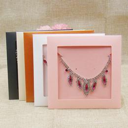 $enCountryForm.capitalKeyWord Australia - 20PCS various color wedding invitation card case bag paper jewelry necklace  earring pendant display gift bag
