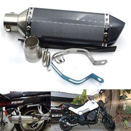 Venta al por mayor de Para 4 colores 51mm Universal Escape modificado Motocicleta Akrapovic Escape Motocicleta Scooter Dirt Bike Silenciador Tubo YZF600 R6 YZF1000 R1 CBR