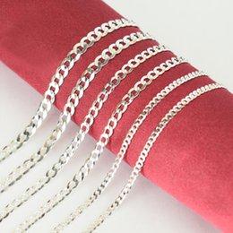 $enCountryForm.capitalKeyWord Australia - 100% Pure 925 Sterling Silver Flat Horsewhip Choker Chain Necklace Unisex Fashion Jewelry Bijoux for Women Men Festive Hot Gift