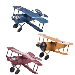 $enCountryForm.capitalKeyWord UK - Iron Aircraft Model Pendant Airplane Figurines Status Children Gift Small Retro Craft Home Furnishing Article Cute Key Chain Bag Ring
