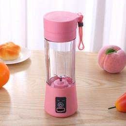 Toptan satış 380ml Taşınabilir Blender Elektrik Sıkacağı USB Şarj Smoothie Blender Mini Suyu Makinesi Kupası Ev Mikser Gıda İşlemcisi