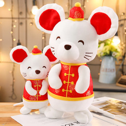chinese plush Australia - 2020 Rat Year China Dress Mascot Rat Plush Mouse in Tang suit Soft Toys Chinese New Year Party Decoration Gift