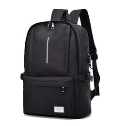 nylon 17 inch laptops UK - 15.6 inch business Backpack Laptop Rucksack Travel Backpack Large Capacity Business Bags USB Charge College Male School backpack hot