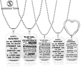 $enCountryForm.capitalKeyWord Australia - Stainless Steel To My Son Inspirational Letter Dog Tag Necklace for Military Air Force Navy Coast Men Best Birthday and Graduation Gift