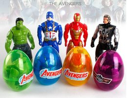 green lantern wholesale toys NZ - Avenger League US team iron man hulk and other deformed egg children's joint movable twist toy accessories