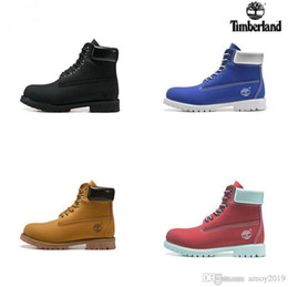Luxury high heeLed shoes online shopping - 2019 Timberland botas Men Designer Sports Shoes Sneakers Casual Mens Womens Trainers Wheat Black Red Luxury Brand timberlands boots