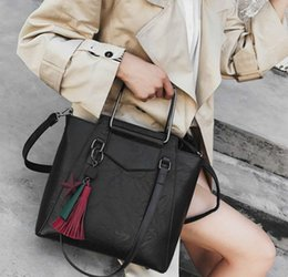 2019 Newer shoulder bag Autumn and winter durable handbag big capacity  retro oil wax leather handbag 3d9e748422
