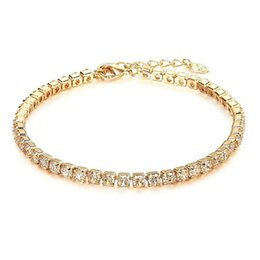 pave clasps Australia - Hot Selling Gold Silver Diamond Chain Bracelet 6.5inch Luxury Rhinestone Paved Bracelet Bridal Jewelry With Lobster Clasp