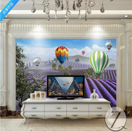 balloon printing 2021 - 3d photo wallpaper custom size mural living room highland lavender balloon scenery 3d picture sofa TV backdrop wall wallpaper wall sticker