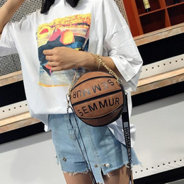 Wholesale Designer Luxury Handbags Women Bags Designer Round Purse Basketball Shape Shoulder Bags For Women Fashion Chains Crossbody Bags Sac