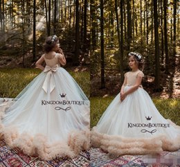 Wedding royal online shopping - Luxury New Arrival Girl s Pageant Dresses Ball Gown Tiered Lovely Flower Girl Dresses for Wedding With Bow Knot Sashes Party Dress
