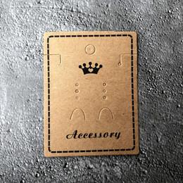Kraft papier bijoux emballage carte collier de boucles d'oreilles montrant la carte titulaire titulaire de la carte avec impression noir