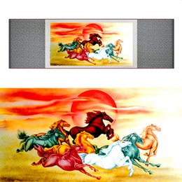 $enCountryForm.capitalKeyWord Australia - Top Quality Chinese Horse Be Painting Horse Art Painting Silk Scroll Art Painting 19062806
