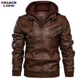 motorcycle jacket size s Canada - Brand Oblique Zipper Motorcycle Leather Jacket Men 2019 Autumn Winter Streetwear Pu Leather Coat Eu size S-XXXL Jaqueta Couro V191205