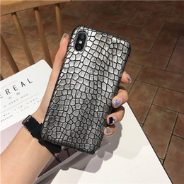 Cell Phone Cases For Cheap Australia - Cheap Iphone XS MAX Luxury Imitation Snakeskin Mobile Phone Cases Anti-slip Anti-slip Cell Phone Cases For IPhone 6 7 8 Plus DHL Free