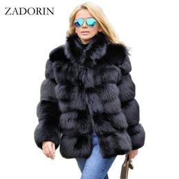 $enCountryForm.capitalKeyWord NZ - Zadorin 2019 New Winter Coat Women Faux Fox Fur Coat Plus Size Women Stand Collar Long Sleeve Faux Fur Jacket Fur Gilet Fourrure T4190610