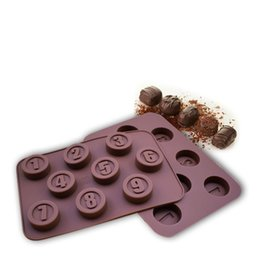 $enCountryForm.capitalKeyWord Australia - 2019 Number 1 to 9 Chocolate Silicone Molds Handmade Candy Tools Making Cake Baking Mold DIY