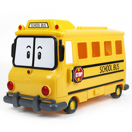 RobocaR poli online shopping - Silverlit robocar Poli School Bus with storage boxes for small Alloy cars Multi function Model toy children gifts LA98