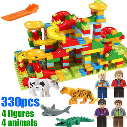 Play Block Set Australia - 330pcs with gifts Marble Run Play Set Roller Coaster Small Size Puzzle Maze Race Track Game Toy Building Block Brick Toy for Kids Gift