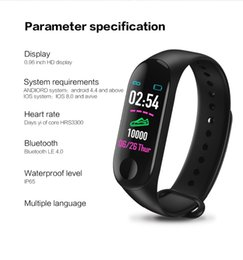 $enCountryForm.capitalKeyWord Australia - 2019 OEM wholesale fitness sport Waterproof IP67 M3 Smart Band Bracelet OLED touch color Screen With Blood Oxygen Heart Rate Monitor