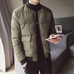 Uniform scarfs online shopping - Winter New Baseball Uniform Jacket Men s Slim Warm Thick Fashion Casual Big Pocket Coat Man Streetwear Wild Cotton Jacket Men
