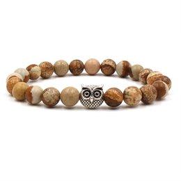 $enCountryForm.capitalKeyWord Australia - 2019 Fashion Agate Buddha Beads Jewelry Lava Volcanic Stone 8 Mm Owl Bracelet Beads Volcanic Stone Bracelet Jewelery Couples Bracelet M487A
