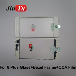 $enCountryForm.capitalKeyWord Australia - Original Cold Press 3 in 1 Glass with Frame+OCA Film Parts For iPhone 8P 8G 7P 7G LCD Screen Refurbish Fix JiuTu