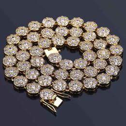 Rapper Chains Australia - 18K Gold Plated Full CZ Zirconia Mens and Womens  Tennis Chain Necklace 94fa2fda5c