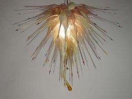 $enCountryForm.capitalKeyWord Australia - Modern Art Chandelier Light Chihuly Style Murano Glass Hanging LED Chandelier for Living Room Hotel Villa Decor