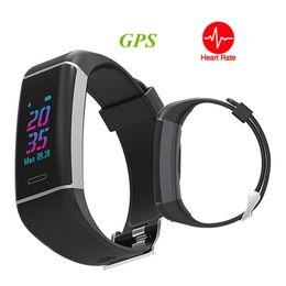 $enCountryForm.capitalKeyWord Australia - GPS Smart Band Heart Rate Monitor Smart Bracelet Fitness Tracker Multi Sports smart Watch activity tracker for IOS Android