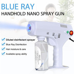 2020 New Hot Handheld Electric Hair Nano Spray Gun Blue Ray Disinfectant Sterilizer 1200W Big Power Household Cleaning Tools on Sale