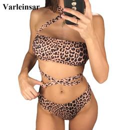 $enCountryForm.capitalKeyWord Australia - Sexy 2019 Leopard Wrap Around Bikini Women Swimwear Female Swimsuit Two-piece Bikini Set Bandeau Bather Bathing Suit Swim V1010 Y19072601