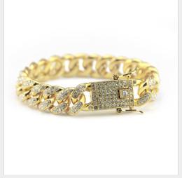 Amethyst Tennis Bracelet Silver Australia - Hip-hop Bracelet Jewelry Diamond Cuban Bracelet Hiphop Men's Fashion Diamond Hand Jewelry