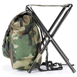 $enCountryForm.capitalKeyWord UK - Portable Fishing Bags Chair Oxford Cloth Steel Tube Light Weight Camouflage Outdoor Camping Fishing Backpack Bags with Chairs #510553