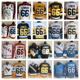 lemieux 66 jersey Australia - Best Quality #66 Mario Lemieux Jerseys 1986 WALES All Star Game 1992 All-Star Pittsburgh Mario Lemieux Hockey Jersey 75th Stitched C Patch