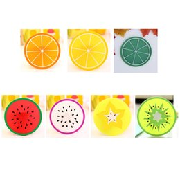 modern coasters Australia - Coaster Fruit Shape Silicone Cup Pad Slip Insulation Pad Cup Mat Pad Hot Drink Holder