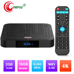 Best Media Player Android Australia - Factory best seller M9S W1 Set-top TV Box 2GB RAM DDR3 16GB Android 7.1 Amlogic S905W Quad-core CPU 2.4GHz WiFi ROM 4K Media Player