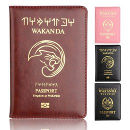$enCountryForm.capitalKeyWord Australia - Best Wakanda Forever Black Panther Leather Passport Holder Case Light Weigt Travel Accessories Wallet Passport Cover